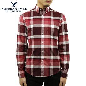 アメリカンイーグル シャツ メンズ 正規品 AMERICAN EAGLE 長袖シャツ ボタンダウンシャツ チェック AE OXFORD PLAID BUTTON UP SHIRT 0153-1600-613