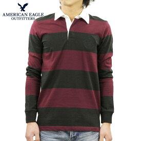 アメリカンイーグル ラガーシャツ メンズ 正規品 AMERICAN EAGLE 長袖ラガーシャツ AE LONG SLEEVE RUGBY POLO SHIRT 0176-8931-613