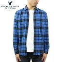 アメリカンイーグル シャツ メンズ 正規品 AMERICAN EAGLE 長袖シャツ ネルシャツ Blue Cotton Tall Shirt 2151-1403-400