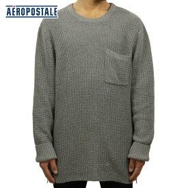 エアロポステール AEROPOSTALE 正規品 メンズ セーター Waffle Knit Side-Zip Crew Neck Sweater 6187-5914 D20S30