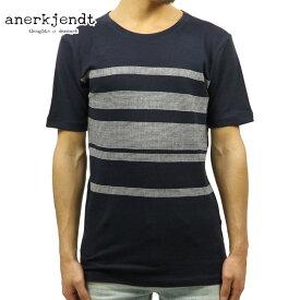 アナケット ANERKJENDT 正規品 メンズ 半袖Tシャツ MORTEN STRIPE T-SHIRT TOTAL ECLIPSE 9217311 B