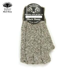 ブラックシープ BLACK SHEEP メンズ 手袋 HAND MADE FINGERLESS CABLE KNIT GLOVE SB08B TWIST