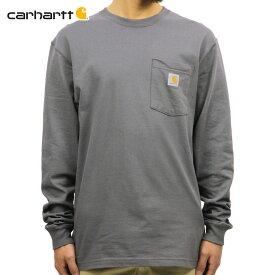 カーハート CARHARTT 正規品 メンズ 長袖ポケTシャツ WORKWEAR POCKET LONG-SLEEVE T-SHIRT K126 CHR CHARCOAL