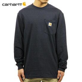 カーハート ロンT メンズ 正規品 CARHARTT 長袖Tシャツ WORKWEAR POCKET LONG-SLEEVE T-SHIRT K126 NVY