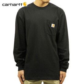カーハート ロンT メンズ 正規品 CARHARTT 長袖Tシャツ WORKWEAR POCKET LONG-SLEEVE T-SHIRT K126 BLK