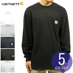 カーハートCARHARTT正規品メンズ無地長袖ポケットTシャツWORKWEARPOCKETLONG-SLEEVET-SHIRTK126