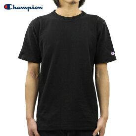 チャンピオン CHAMPION 正規品 メンズ クルーネック 半袖Tシャツ REVERSE WEAVE T-SHIRT C3-X301 090 BLACK