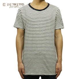 【販売期間 8/21 10:00〜8/26 09:59】 ディストレス Tシャツ 正規販売店 DSTREZZED 半袖Tシャツ Crew neck s/s Y/D stripe heavy jersey 202190 2 D15S25