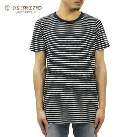 ディストレス Tシャツ 正規販売店 DSTREZZED 半袖Tシャツ Crew neck s/s Y/D stripe heavy jersey