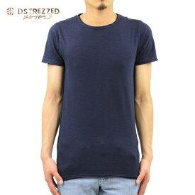 ディストレス Tシャツ 正規販売店 DSTREZZED 半袖Tシャツ R-neck s/s Slub Jersey 202175 69 D00S15