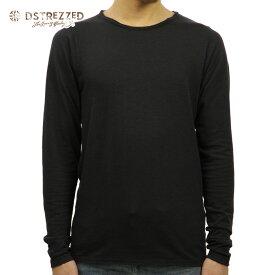 ディストレス Tシャツ メンズ 正規販売店 DSTREZZED 長袖Tシャツ Basic Crew l/s Slub Jersey 202209LS 99 D00S20