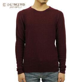 ディストレス Tシャツ メンズ 正規販売店 DSTREZZED 長袖Tシャツ Crew Structure knit 404056 22 D00S20