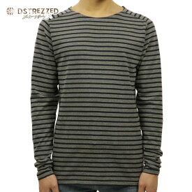 【ポイント10倍 8/22 10:00〜8/24 23:59まで】 ディストレス Tシャツ メンズ 正規販売店 DSTREZZED 長袖Tシャツ Crew l/s Y/D stripe 202216 83 D00S20