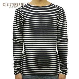 【ポイント10倍 8/22 10:00〜8/24 23:59まで】 ディストレス Tシャツ メンズ 正規販売店 DSTREZZED 長袖Tシャツ Crew l/s Y/D stripe 202216 49/2 D00S20