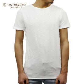 【ポイント10倍 8/22 10:00〜8/24 23:59まで】 ディストレス Tシャツ 正規販売店 DSTREZZED 半袖Tシャツ BASIC ROUND NECK TEE WHITE 202240BL2 1