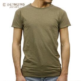 【ポイント10倍 8/22 10:00〜8/24 23:59まで】 ディストレス Tシャツ 正規販売店 DSTREZZED 半袖Tシャツ BASIC ROUND NECK TEE SADDLE BROWN 202240BL2 112