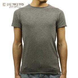 【ポイント10倍 8/22 10:00〜8/24 23:59まで】 ディストレス Tシャツ 正規販売店 DSTREZZED 半袖Tシャツ BASIC ROUND NECK TEE GREY MELANGE 202240BL4 94 D00S15