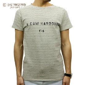 ディストレス Tシャツ 正規販売店 DSTREZZED 半袖Tシャツ NAPS ROUND NECK STRIPE TEE OFFWHITE 211088 2 D00S15