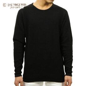 ディストレス セーター メンズ 正規販売店 DSTREZZED CREW NECK SWEATER BLACK 404073BL1 99 D00S15