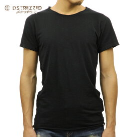 【ポイント10倍 8/22 10:00〜8/24 23:59まで】 ディストレス Tシャツ 正規販売店 DSTREZZED 半袖Tシャツ BASIC ROUND NECK S/S SLUB TEE 202250 99 BLACK