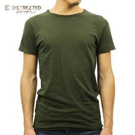 【ポイント10倍 8/22 10:00〜8/24 23:59まで】 ディストレス Tシャツ 正規販売店 DSTREZZED 半袖Tシャツ BASIC ROUND NECK S/S SLUB TEE 202250 13 DK. GREEN