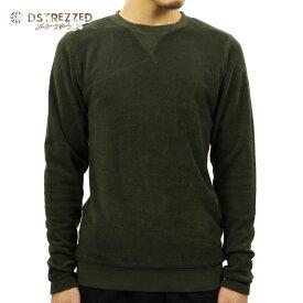 ディストレス スウェット メンズ 正規販売店 DSTREZZED トレーナー CREW COMPACT TERRY 211099 13 DK. GREEN