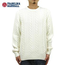 フランクリン マーシャル セーター メンズ 正規販売店 FRANKLIN&MARSHALL CABLE KNIT SWEATER ECRU KNMAL049AM 6013