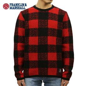 フランクリン マーシャル セーター メンズ 正規販売店 FRANKLIN&MARSHALL BUFFALO CHECK SWEATER CARDINAL MOUNTAIN KNMAL049AN 6025 D00S20