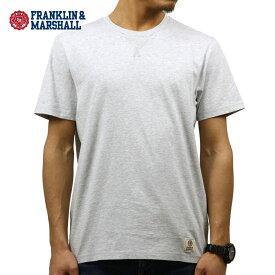 フランクリン マーシャル Tシャツ 正規販売店 FRANKLIN&MARSHALL 半袖Tシャツ CREW TEE LIGHT GREY MELANGE TSMF204AN 4021 0397