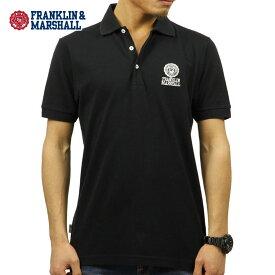 フランクリン マーシャル ポロシャツ 正規販売店 FRANKLIN&MARSHALL 半袖ポロシャツ POLO SHIRT BLACK POMF130AN 4061 0021