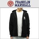 フランクリン&マーシャル FRANKLIN&MARSHALL 正規販売店 メンズ ジップアップパーカー ZIP HOODIE BLACK FLMF063AN …