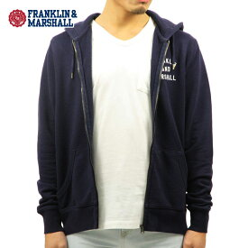 フランクリン マーシャル パーカー メンズ 正規販売店 FRANKLIN&MARSHALL ジップアップパーカー ZIP HOODIE NAVY FLMF070AN 4088 0167 D00S15