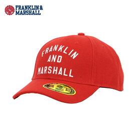 フランクリン マーシャル FRANKLIN&MARSHALL 正規販売店 メンズ 帽子 キャップ CAP CAMPUS RED CPUA907 7013 2098