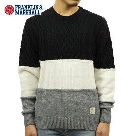 フランクリン マーシャル セーター メンズ 正規販売店 FRANKLIN&MARSHALL CREW NECK KNIT SWEATER KNMF162AN 6013 0167 NAVY