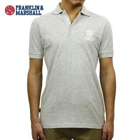 フランクリン マーシャル ポロシャツ 正規販売店 FRANKLIN&MARSHALL 半袖ポロシャツ POLO SHIRT GREY MELANGE POMF130AN 45181 4061