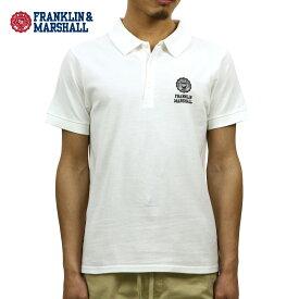 フランクリン マーシャル ポロシャツ 正規販売店 FRANKLIN&MARSHALL 半袖ポロシャツ POLO SHIRT WHITE POMF468AN 0391