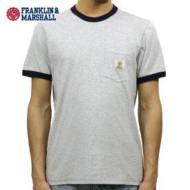 フランクリン マーシャル Tシャツ 正規販売店 FRANKLIN&MARSHALL 半袖Tシャツ クルーネック RINGER TEE LIGHT GREY MELANGE TSMF192AM 45181 4015