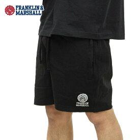 フランクリン マーシャル ショートパンツ メンズ 正規販売店 FRANKLIN&MARSHALL スウェットハーフパンツ ボトムス SWEAT SHORT PANTS SFMF091AN F021 BLACK