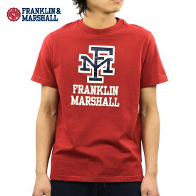フランクリン マーシャル Tシャツ 正規販売店 FRANKLIN&MARSHALL 半袖Tシャツ ロゴTシャツ LOGO CREW NECK TEE TSMF345AN F371 RIO RED