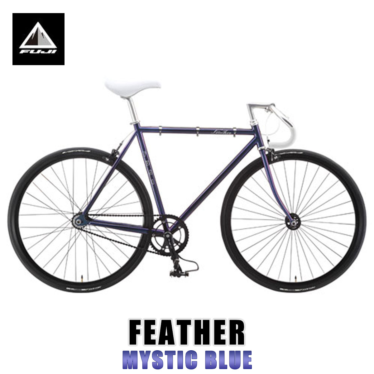 フジ FUJI 正規販売店 自転車 FEATHER (SINGLE SPEED) MYSTIC BLUE
