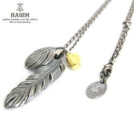ハリム HARIM 正規販売店 ネックレス HARIM LEEF FEATHER WITH GOLDEN APPLE SET 2 NECKLACE HRP021
