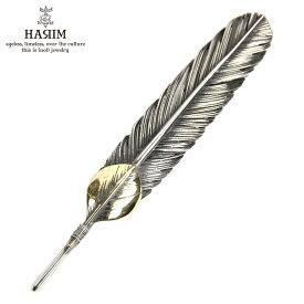 ハリム HARIM ペンダントトップ(チェーン別売り) HARIM FEATHER CENTER L HRT001 WH/OX SILVER 925 OXIDIZED BLACK with 10K GOLD HEART FEATHER