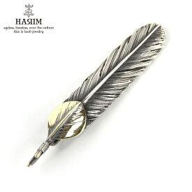 ハリム HARIM ペンダントトップ(チェーン別売り) HARIM FEATHER CENTER M HRT004 WH/OX SILVER 925 OXIDIZED BLACK with 10K GOLD HEART FEATHER