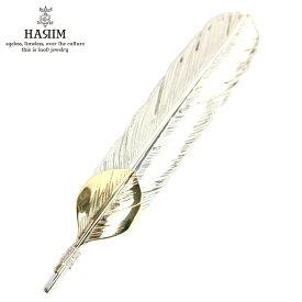 ハリム HARIM ペンダントトップ(チェーン別売り) HARIM FEATHER CENTER M HRT004 WH/OX SILVER 925 with 10K GOLD HEART FEATHER