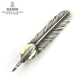 ハリム HARIM ペンダントトップ(チェーン別売り) HARIM FEATHER CENTER M HRT004 WH/OX SILVER 925 OXIDIZED BLACK with 18K GOLD HEART FEATHER