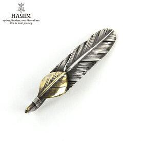 ハリム HARIM ネックレス HARIM FEATHER CENTER S GP HRT007BR SILVER 925 OXIDIZED BLACK