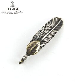 ハリム HARIM ネックレス HARIM FEATHER LEFT S GP HRT008BR SILVER 925 OXIDIZED BLACK