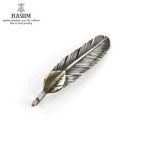 ハリム HARIM ネックレス HARIM FEATHER RIGHT S GP HRT009BR SILVER 925 OXIDIZED BLACK
