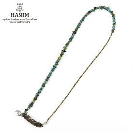 ハリム HARIM ネックレス 3WAY TORQUOISE FEATHER BR HRP901TBR SILVER 925 BRASS. NATURAL TORQUOISE
