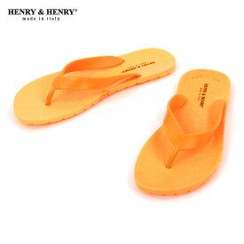 ヘンリーアンドヘンリー HENRY&HENRY 正規販売店 サンダル フリッパー FRIPPER SANDAL ARANCIO FLUO 37